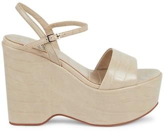 Jeffrey Campbell Marizol Croc-Embossed Platform Sandals