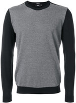 HUGO BOSS colour block crew neck sweater