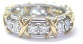 Tiffany & Co. Platinum 18K Yellow Gold & 1.14ct Diamond Schlumberger Ring Sz 6