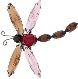 Etro Dragonfly Gem Brooch