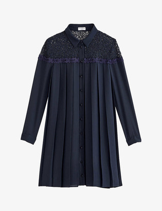 Claudie Pierlot Raisone pleated crepe mini dress