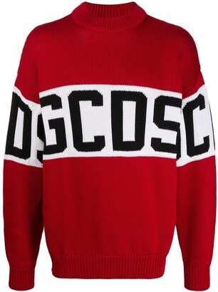 GCDS Logo Colour-Block Jumper