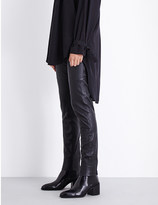 A.F.Vandevorst Skinny mid-rise leather trousers
