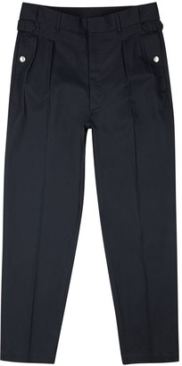 Maison Margiela Navy cotton-twill trousers