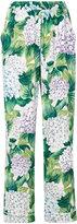 Dolce & Gabbana hydrangea print pyjama trousers - women - Silk/Spandex/Elastane - 38