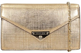 Michael Kors Shoulder Bag In Gold Leather