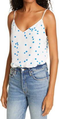Equipment Layla Star Print Silk Camisole