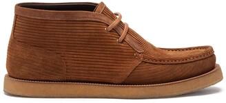 Dolce & Gabbana corduroy lace-up Desert boots