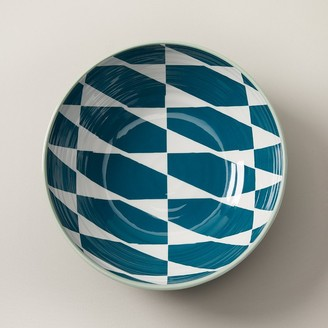 Indigo Colourblock Hexagonal Melamine Serving Bowl