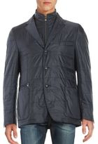 Corneliani Wool Blend Quilted Jacket