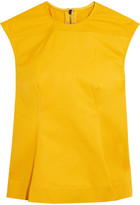 Rick Owens Calpurnia Cotton-blend Canvas Top - Yellow