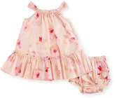 Kate Spade Shirred Floral Voile Dress w/ Bloomers, Multicolor, Size 12-24 Months