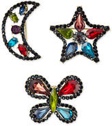 INC International Concepts Anna Sui x Gold-Tone 3-Pc. Set Rainbow Crystal Pins, Created for Macy's