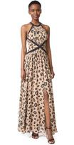 L'Agence Marvella Contrast Maxi Dress