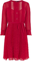 Karen Millen Chantilly Ruffle Dress - Red