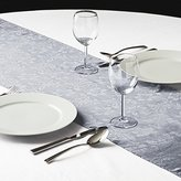 LinenTablecloth Lilies Embossed Satin Table Runner, 14 by 108-Inch, Silver
