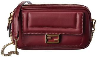 Fendi Easy 2 Baguette Leather Wallet On Chain