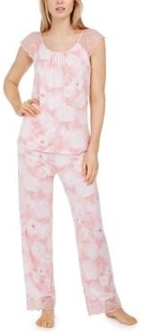 Charter Club Petite Lace-Trim Pajama Set, Created for Macy's