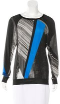 Helmut Lang Abstract Print Long Sleeve Top
