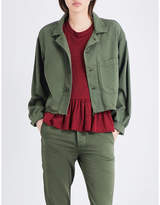 The Great Cropped cotton army jacket