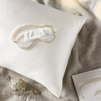 The White Company Silk Pillowcase & Eyemask Gift Set, Ivory, One Size