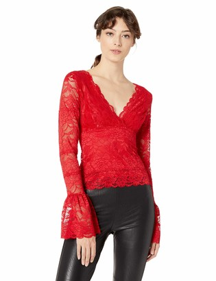 GUESS Women's Long Sleeve Jordan Lace Top