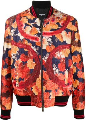 DSQUARED2 Oriental Print Bomber Jacket