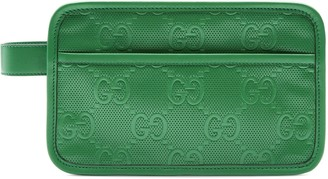 Gucci GG embossed cosmetic case
