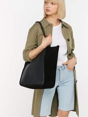 Accessorize Suki Suede Shopper - Black