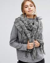 Pieces Knitted Long Scarf with Tassels