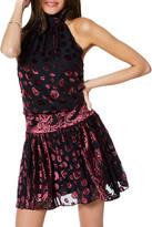 Ramy Brook Naima Velvet Burnout Short Dress