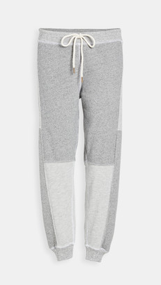 The Great The Patchwork Cropped Sweatpants