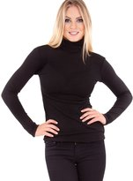 Clothes Effect Woman Vertical Ribbed Long Sleeve Turtleneck Sweater Top