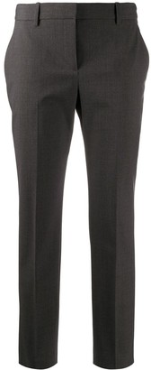 Theory high waist tapered leg trousers