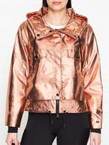 DKNY Cropped Zip Up Hooded Jacket