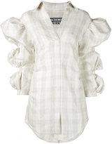 Jacquemus puff sleeve shirt - women - Silk/Linen/Flax/Cotton - 36