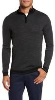 Ted Baker Men's Stripe Quarter Zip Sweater