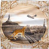 Cartier Odyssée de motif silk scarf