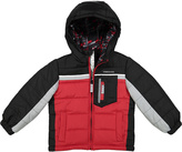 London Fog Red & Black Puffer Coat - Infant & Toddler