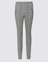 M&S Collection Checked Skinny Leg Trousers