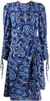 Etro paisley long-sleeve midi dress