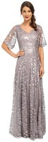 Donna Morgan Sequin Gown with Sleeve