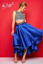 Mac Duggal Evening Gowns - 30312 High Neck Dress In Royal Multi
