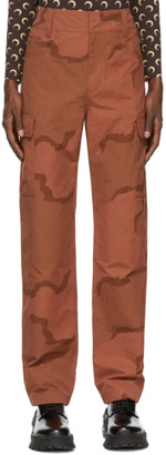 Marine Serre Orange Regenerated Military Cargo Pants
