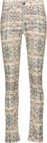 Isabel Marant Mesa printed cotton-blend corduroy skinny pants