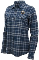 Antigua Women's Navy/Gray Buffalo Sabres Stance Plaid Button-Up Long Sleeve Shirt