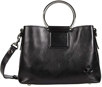 Patricia Nash Empoli Satchel (Black) Handbags