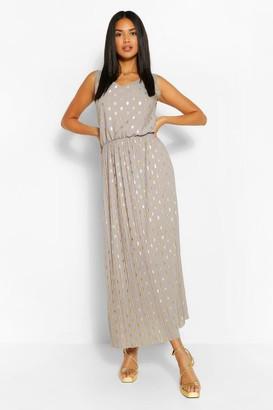 boohoo Foiled Spot Maxi Dress