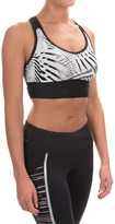 New Balance Crop Racerback Sports Bra - Low Impact (For Women)