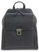 Salvatore Ferragamo Men's 'Revival 2.0' Leather Backpack - Grey